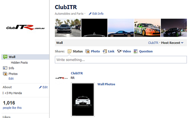 ClubITR Facebook page
